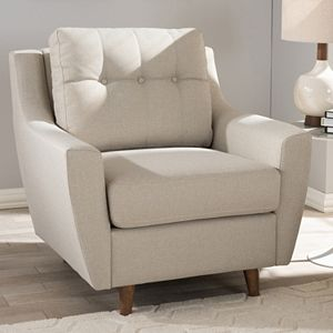 Baxton Studio Mckenzie Tufted Arm Chair