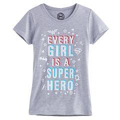 Girls 7-16 DC Comics Wonder Woman, Superman & Batman 'Every Girl Is A Super Hero' Tee