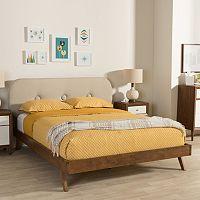 Baxton Studio Penelope Mid-Century Modern Platform Bed