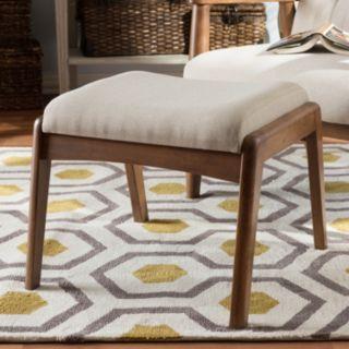 Baxton Studio Roxy Upholstered Ottoman