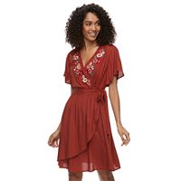 Petite SONOMA Goods for Life™ Embroidered Wrap Dress