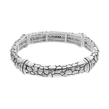 Napier Cobblestone Stretch Bangle Bracelet