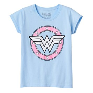 Girls 7-16 DC Comics Wonder Woman Logo Graphic Tee