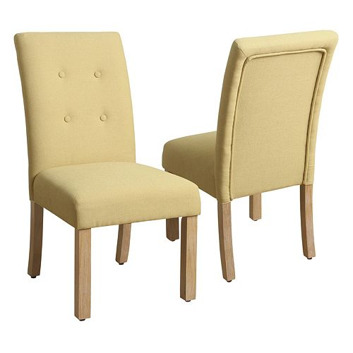 HomePop Tufted Parson Dining Chair 2-piece Set