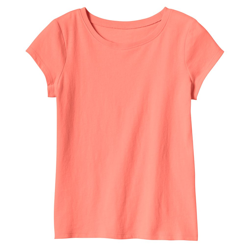 Baby Girl Jumping Beans® Basic Short Sleeve Solid Tee