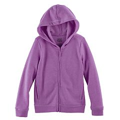 Girls 4-10 Jumping Beans® Zip-Front Hoodie with Sparkle Details