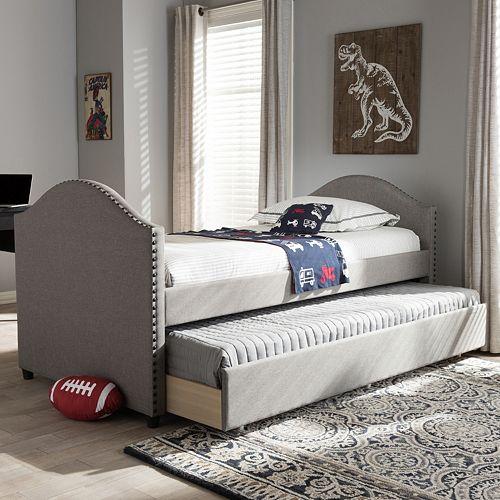 Baxton Studio Alessia Modern Twin Bed Trundle