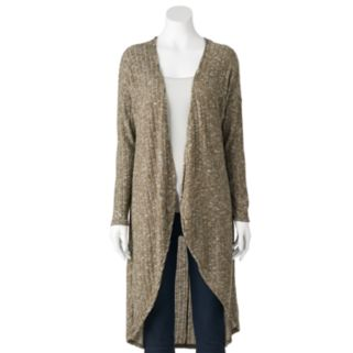Women's French Laundry Marled Long Open-Front Cardigan