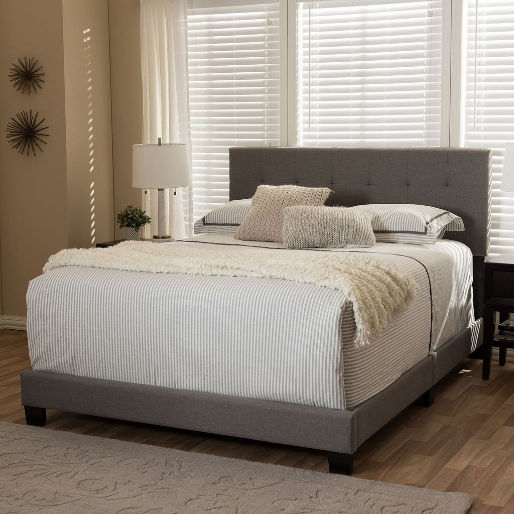 Baxton Studio Brookfield Contemporary Tufted Bed