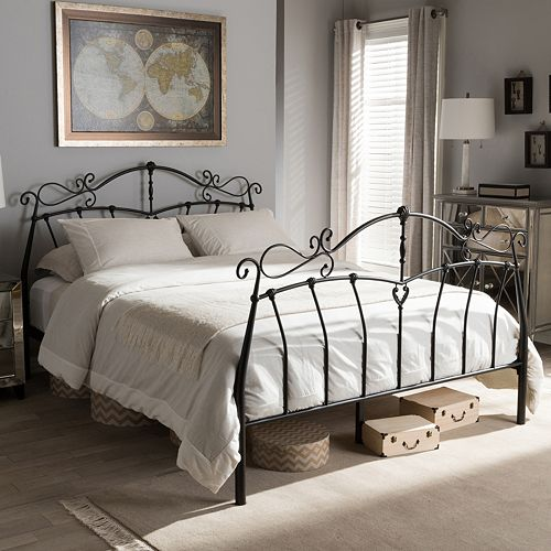 Baxton Studio Selena Bronze Finish Metal Platform Bed