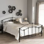 Baxton Studio Eileen Bronze Finish Metal Platform Bed