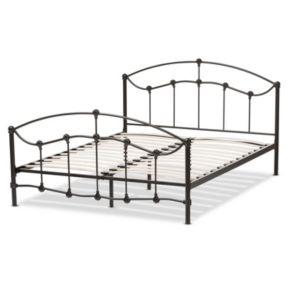 Baxton Studio Eileen Bronze Finish Metal Platform Bed
