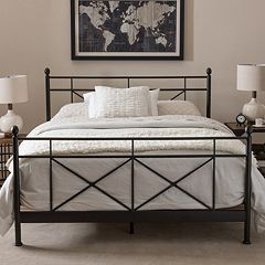 Baxton Studio Antique Industrial Metal Platform Bed