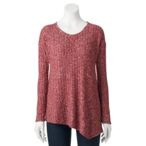Women's French Laundry Marled Asymmetrical-Hem Top