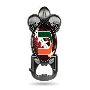 Miami Hurricanes Party Starter Bottle Opener Magnet