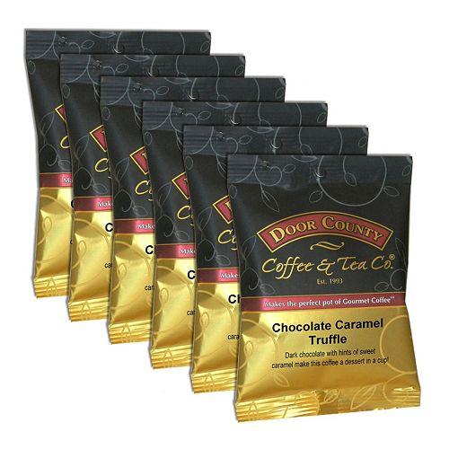 Door County Coffee Chocolate Caramel Truffle Ground Coffee 6-pk.