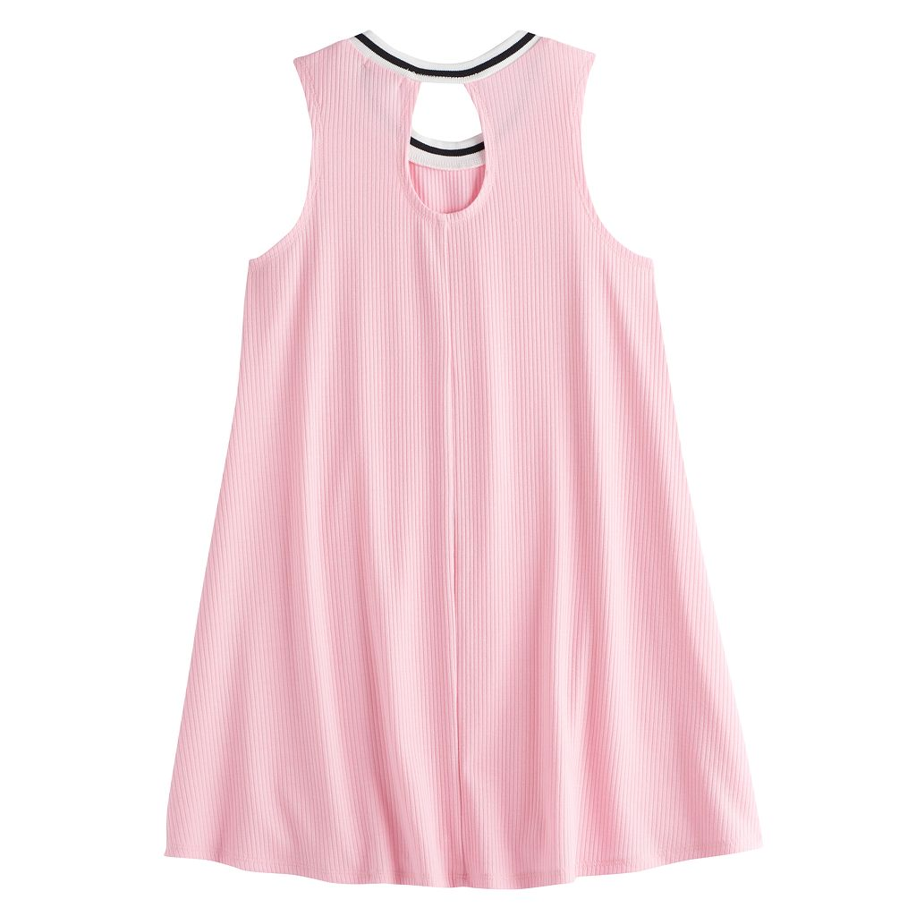 Girls 7-16 Love, Fire Ribbed Ringer Tank Dress
