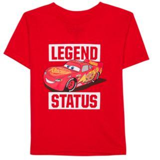 "Disney / Pixar Cars Toddler Boy ""Legend Status"" Lightning McQueen Graphic Tee"
