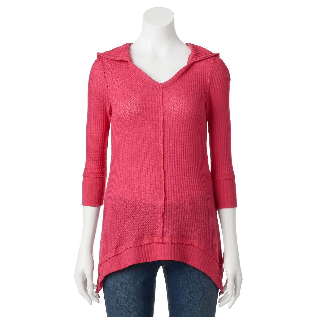 Women's French Laundry Hooded Shark-Bite Hem Tunic