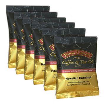 Door County Coffee Hawaiian Hazelnut Ground Coffee 6-pk.