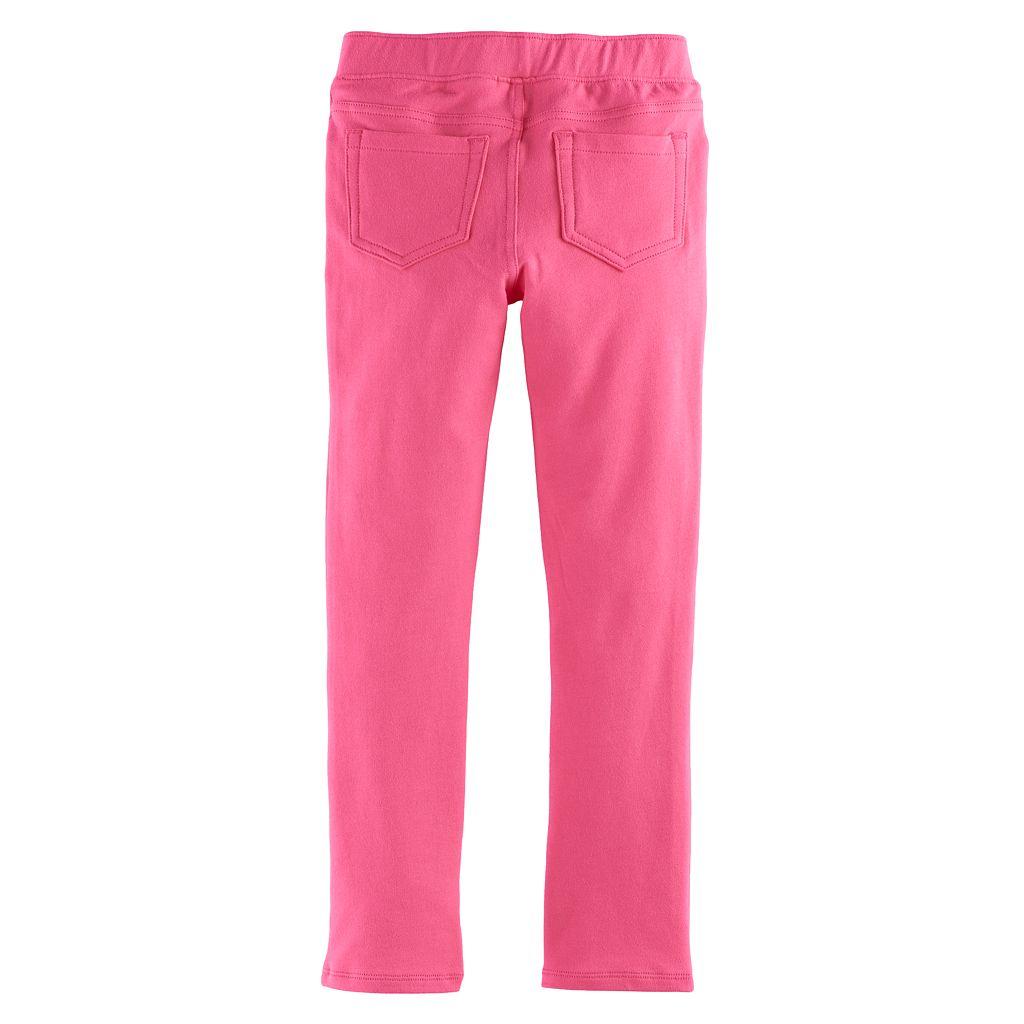 Girls 4-10 Jumping Beans® Solid Full-Length Leggings