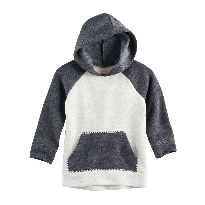 baby boy jumping beans colorblock raglan fleece hoodie