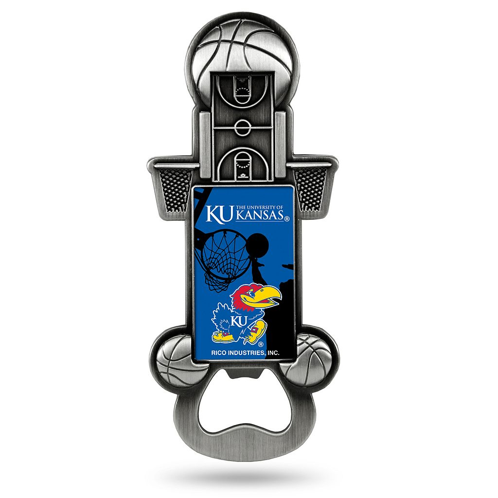 Kansas Jayhawks Party Starter Bottle Opener Magnet