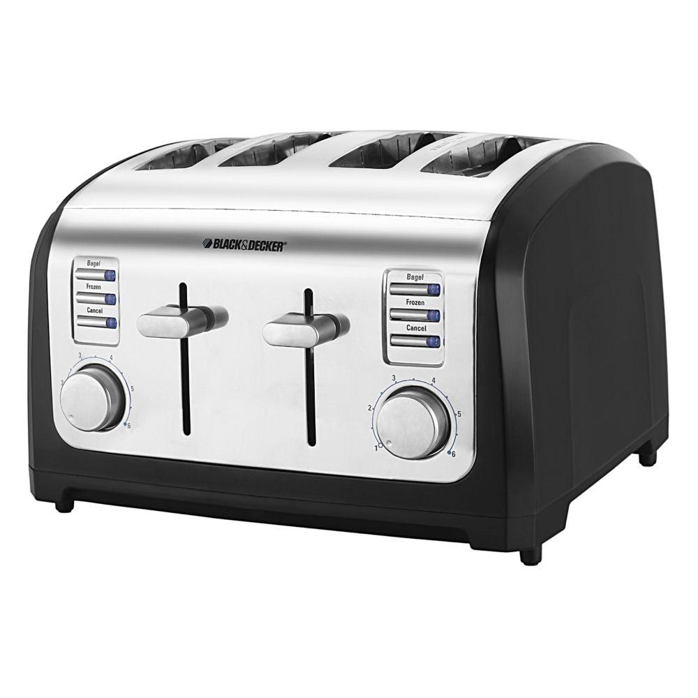 & Decker Classic Chrome 4 Slice Toaster