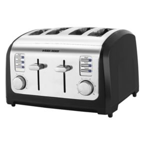 Black and Decker Classic Chrome 4-Slice Toaster