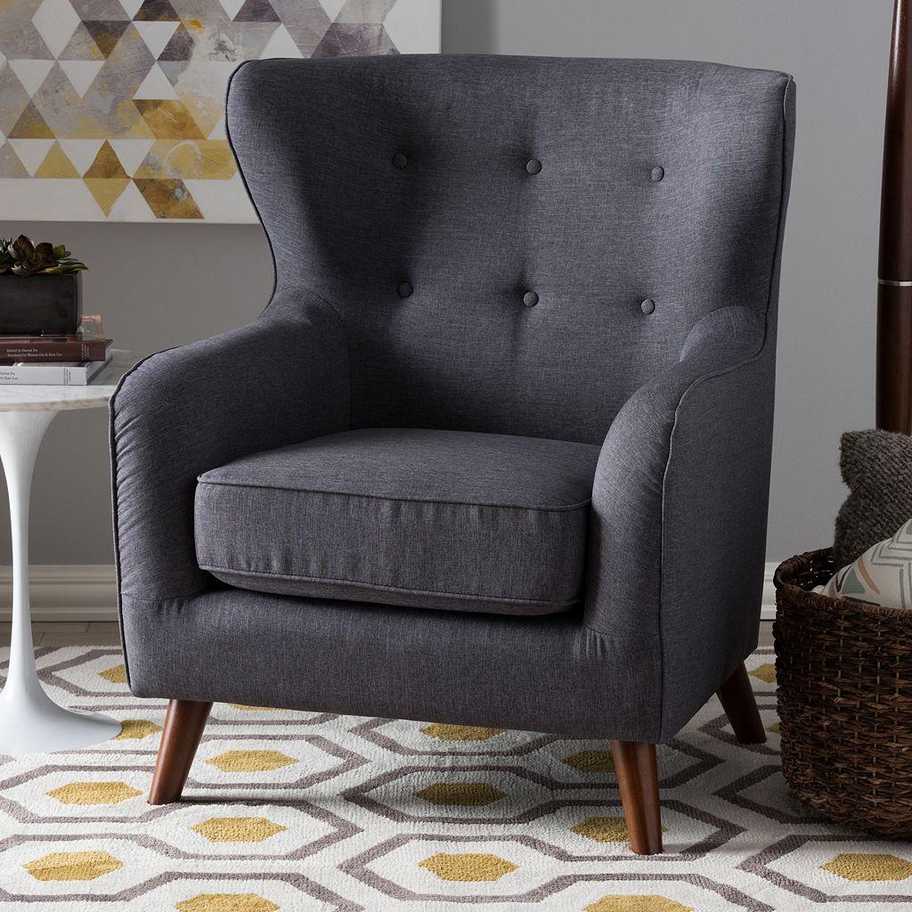 Baxton Studio Ludwig Arm Accent Chair