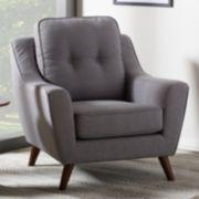 Baxton Studio Deena Mid-Century Modern Arm Chair
