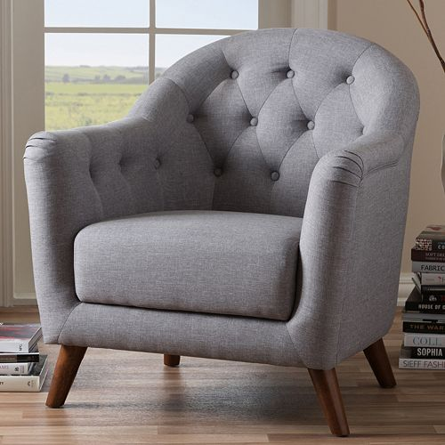 Baxton Studio Lotus Mid-Century Modern Arm Chair