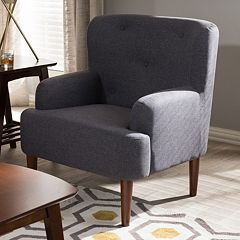 Baxton Studio Toni Tufted Arm Chair