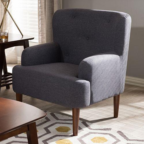 Baxton Studio Toni Tufted Arm Chair