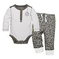 Baby Boy Burt's Bees Baby Organic Henley Bodysuit & Pants Set