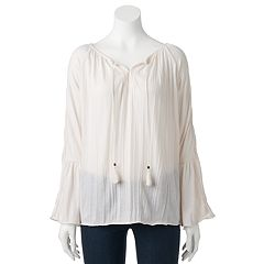 Women's French Laundry Raglan Peasant Top