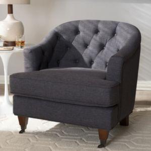 Baxton Studio Jilian Tufted Arm Chair