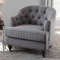 Baxton Studio Jilian Tufted Arm Chair
