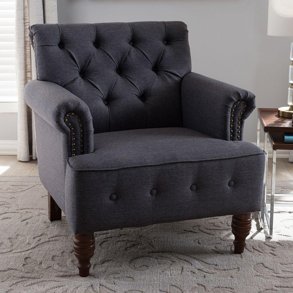 Baxton Studio Christa Tufted Arm Chair