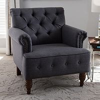 Baxton Studio Christa Tufted Arm Chair