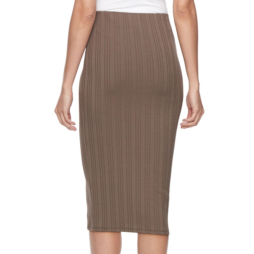 Women's Jennifer Lopez Ribbed Pencil Skirt
