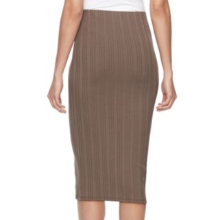 Women's Jennifer Lopez Ribbed Pencil Skirt