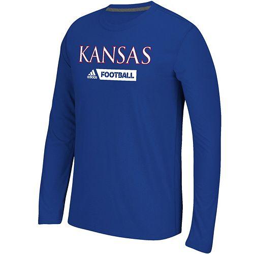 Men's adidas Kansas Jayhawks Sideline Gridiron Tee
