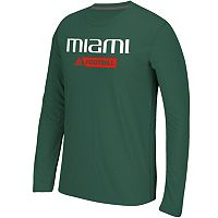 Men's adidas Miami Hurricanes Sideline Gridiron Tee