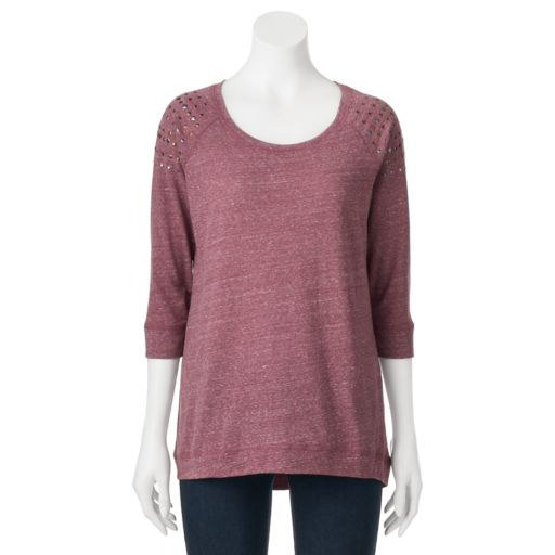 Women's French Laundry Studded Raglan Tee