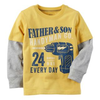 "Boys 4-8 Carter's ""Father & Son Handyman Co."" Mock-Layer Graphic Tee"