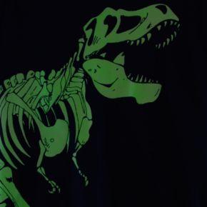 Boys 4-8 Carter's Glow-in-the-Dark Dinosaur Mock-Layer Tee
