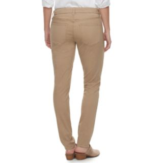 Women's SONOMA Goods for Life? Midrise Curvy Fit Sateen Skinny Pants
