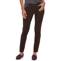 Women's SONOMA Goods for Life™ Midrise Curvy Fit Sateen Skinny Pants