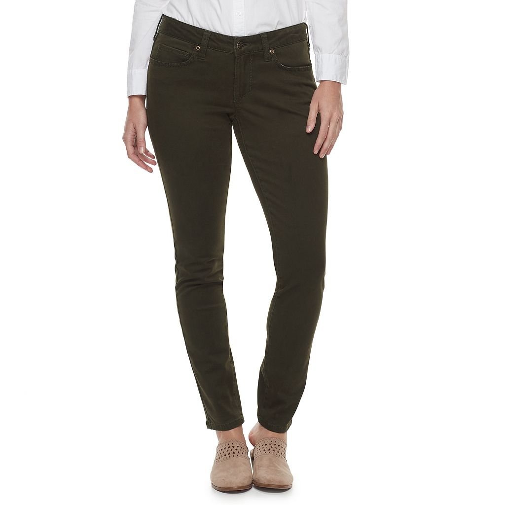 Women's SONOMA Goods for Life™ Curvy Fit Sateen Skinny Pants